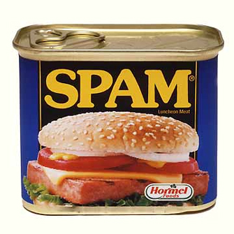 A photograph of spam.